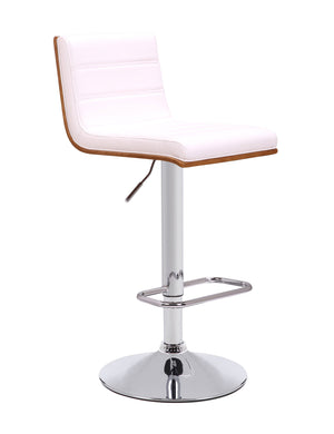 White Lilo Gas Lift Bar Stool - decorstore