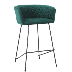 Green Scallop Kitchen Height Stool - decorstore