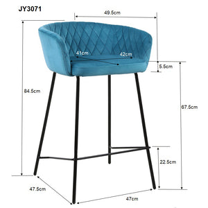 Aqua Scallop Kitchen Height Stool - decorstore