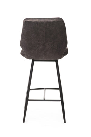 Tulla Bar Stool Antique Black - decorstore