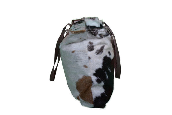 BELOW COST! - COWHIDE PLAIN TOTE HANDBAG - decorstore