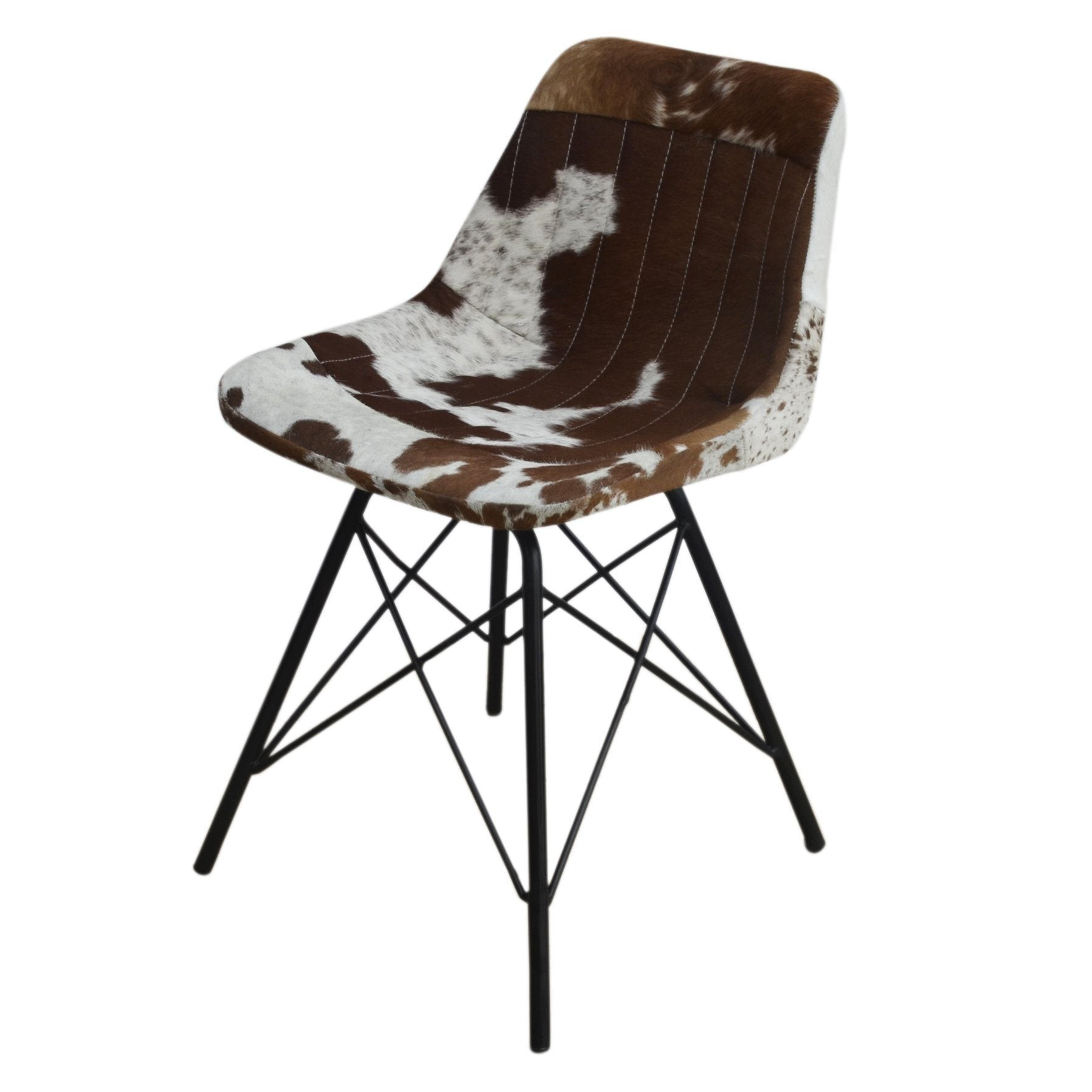 ARMLESS COWHIDE SEAT - decorstore