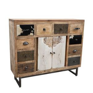 Boho Cowhide Chest Of Drawers - decorstore