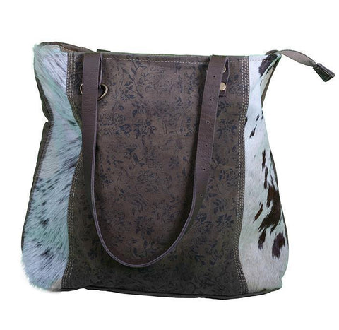 FLOWERY LEATHER COWHIDE BAG - decorstore