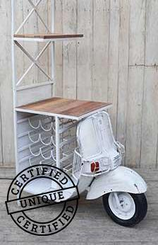 SCOOTER WINE BAR SHELF - decorstore