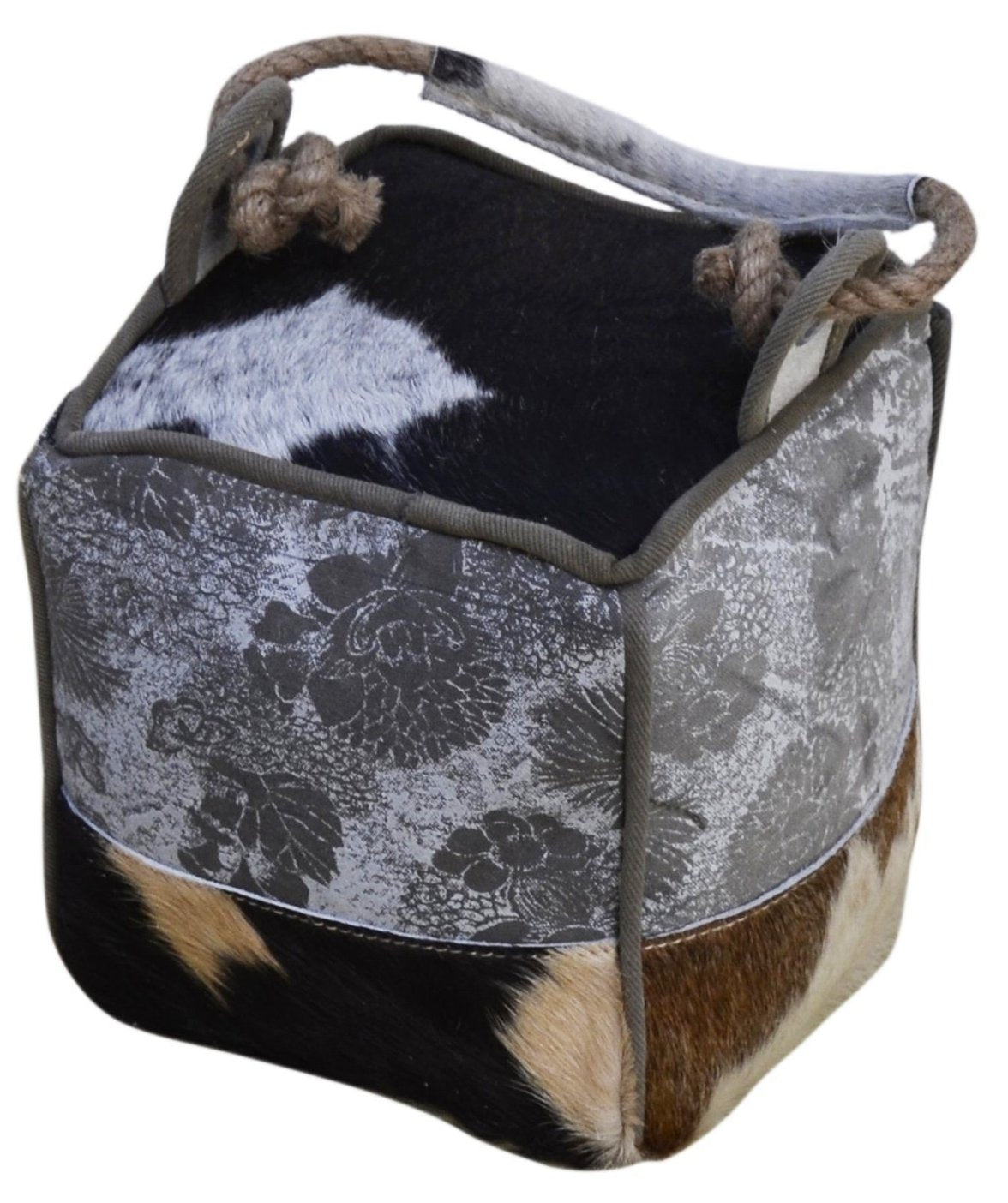 Cowhide Muted Patch Door Stopper - decorstore