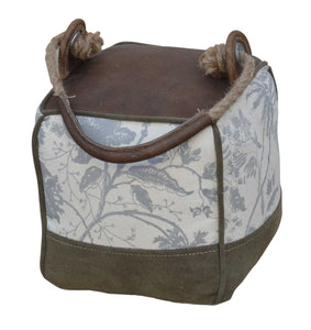 LEATHER FLORAL PATCH DOOR STOPPER - decorstore