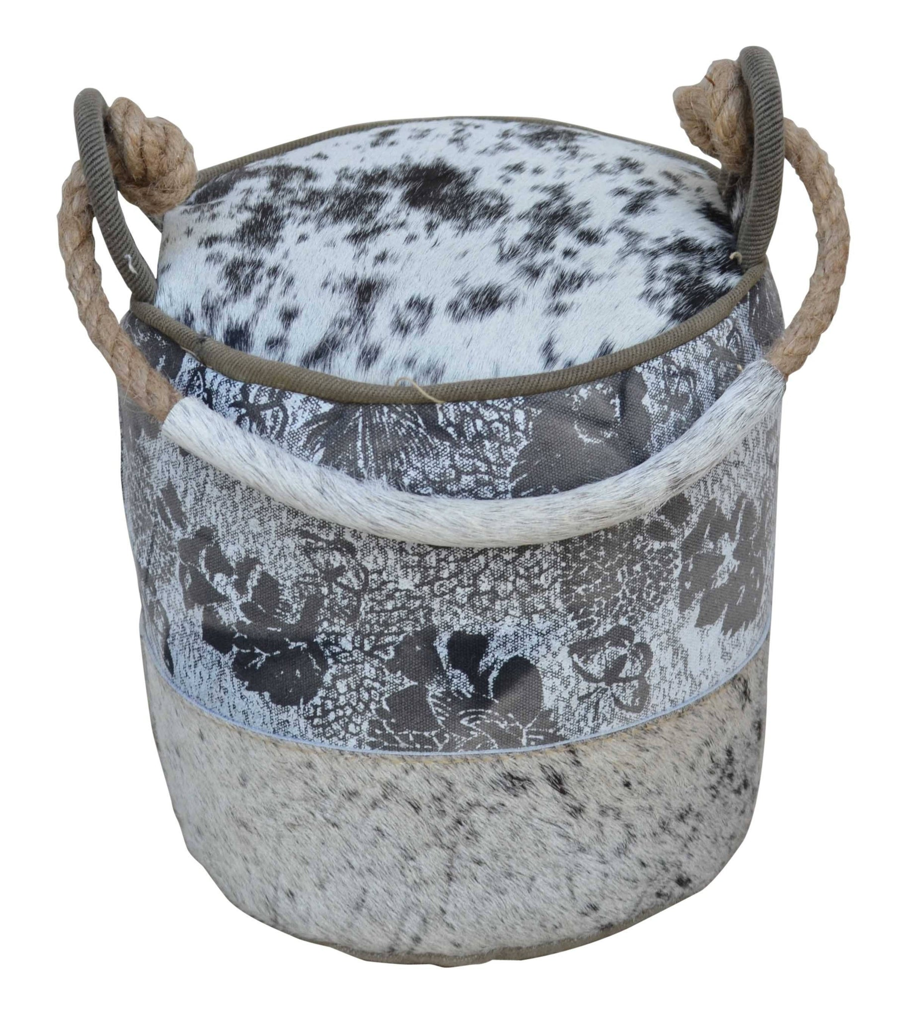 Cowhide Canvas Round Door Stopper - decorstore