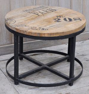 Iron Hardwood Round Coffee Table - decorstore
