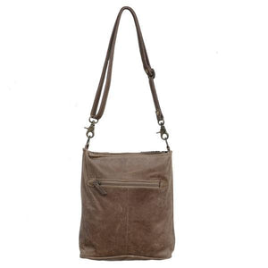 Cowhide And Leather Panelled Handbag - decorstore
