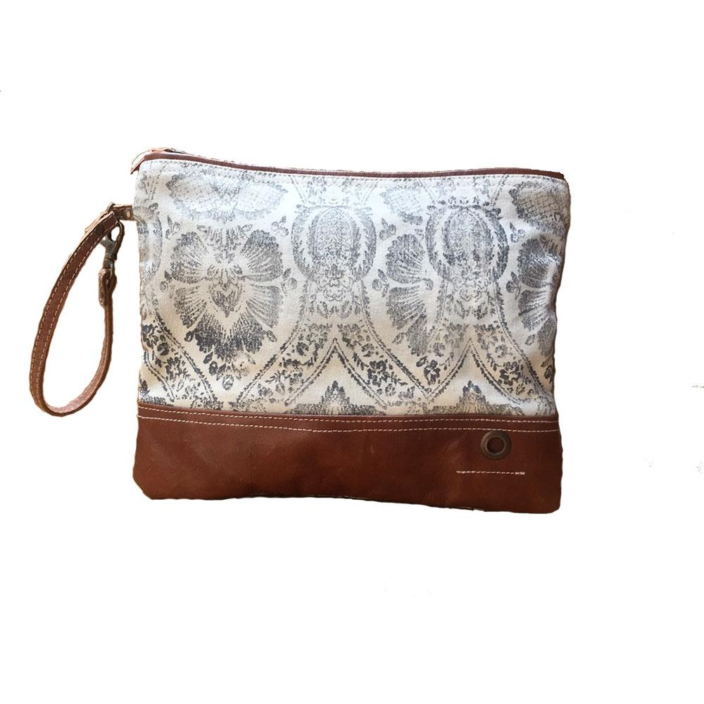 CARAMEL DREAM CATCHER ZIP CLUTCH BAG - decorstore