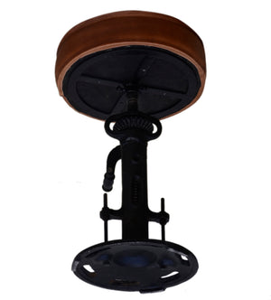 Paris Brown Leather Bar Stool - decorstore