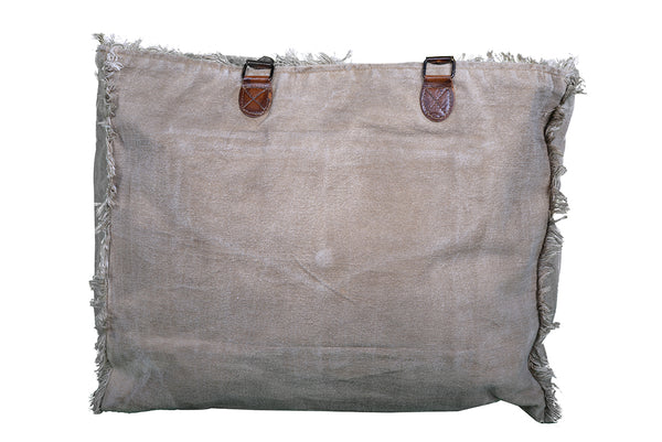 Fringed Hand Made Canvas Bag - decorstore