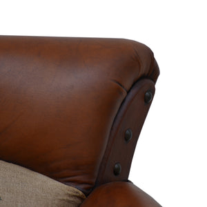 Canvas And Leather Polo Vintage Arm Chair - decorstore