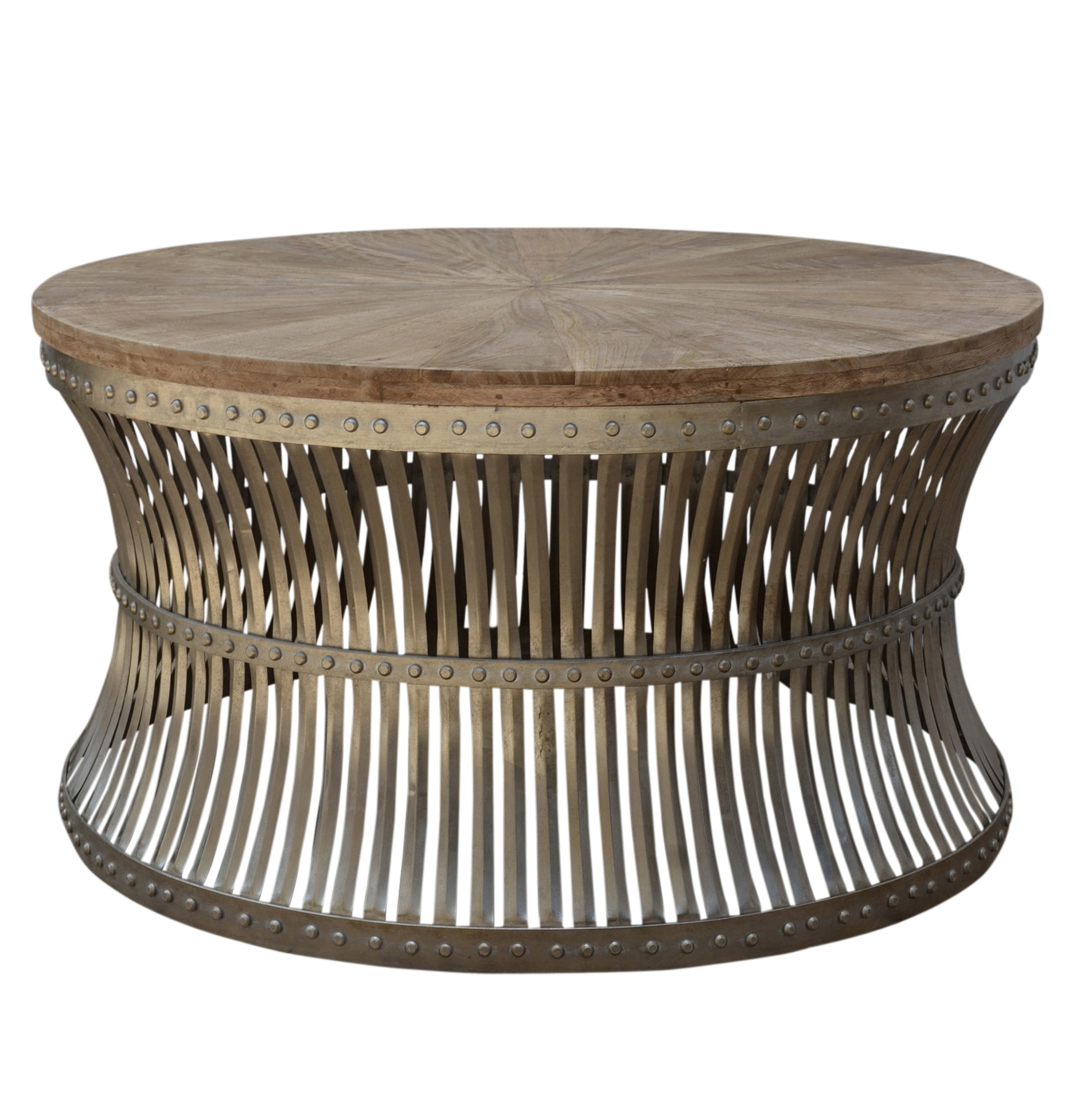 Hourglass Iron And Wood Coffee Table - decorstore
