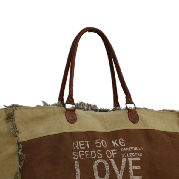 FRINGED LOVE HANDBAG - decorstore