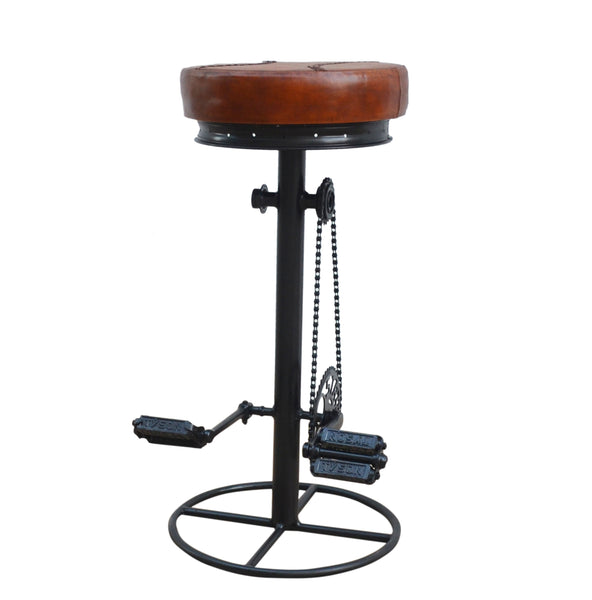 Mit and Pedal Industrial Bicycle Bar Stool - decorstore