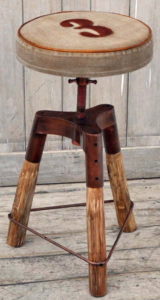 TRIPOD WIND UP BAR STOOL - decorstore