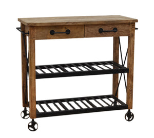 Wooden Wheely Butlers Trolley - decorstore