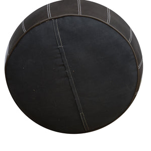 Brown Bloom Leather Ottoman - decorstore