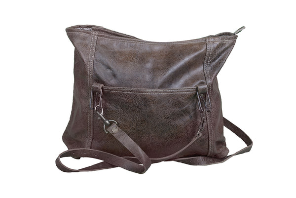 VINTAGE WASH LEATHER HANDBAG - decorstore