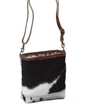 Cowhide And Leather Handbag - decorstore