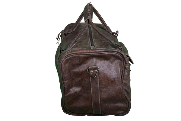 Square Weekend Leather Duffle Bag - decorstore