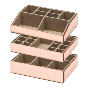 Stackable Jewellery / Makeup Box Set - Rose Gold - decorstore