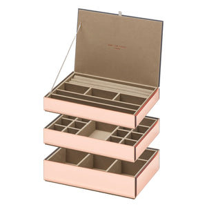 Stackable Jewellery Box Set - Rose Gold - decorstore