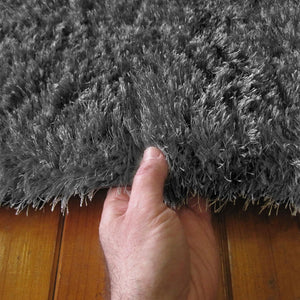 Soft Shaggy 1001 Turkish Dk.Grey Rug - decorstore