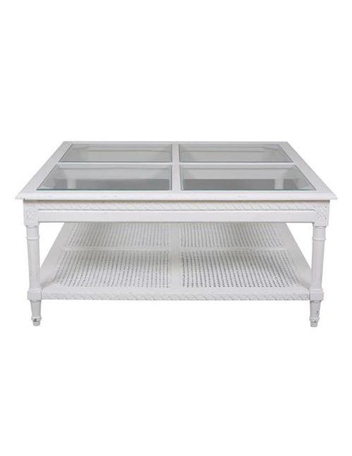 Polo Square Coffee Table White - decorstore