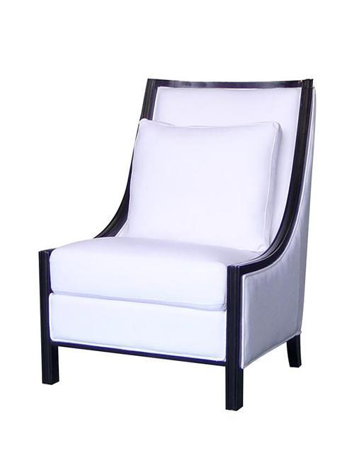 Resort Style Armchair White - decorstore
