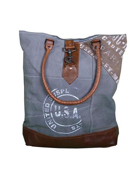 STAMPED VINTAGE STYLE USA SHOULDER BAG - decorstore