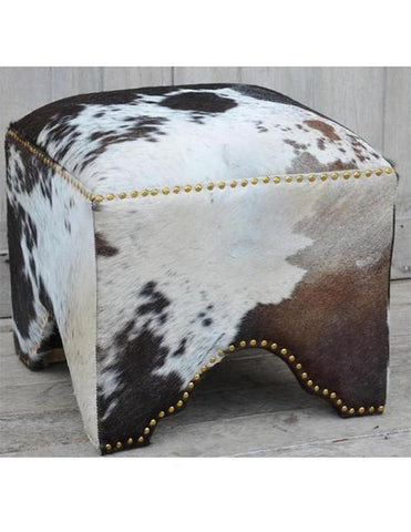 Hand Made Hand Crafted Cow Ottoman - decorstore