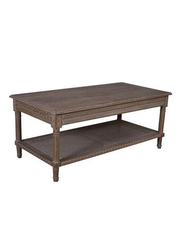 Polo Rectangular Coffee Table Oak Wash - decorstore