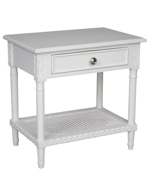 Polo Side Table/Bedside White - decorstore