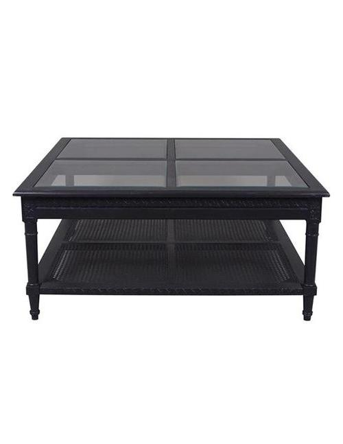 Polo Square Coffee Table Black - decorstore