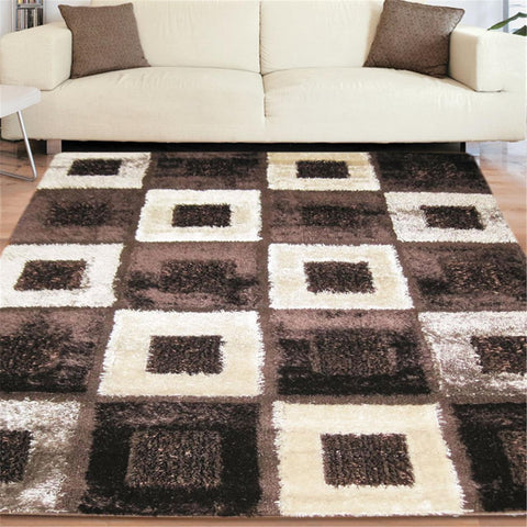 Turkish Luxury Shaggy Brown Rug - decorstore