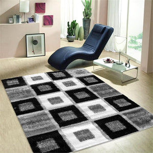 Turkish Luxury Shaggy Grey Rug - decorstore