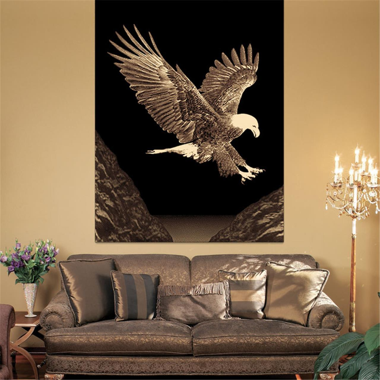 Turkish Ruby Eagle Rug - decorstore