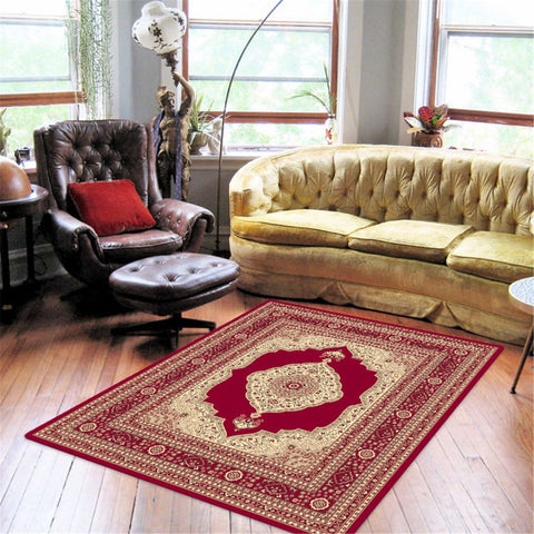 Turkish Ruby Red Rug - decorstore