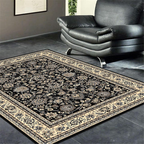 Turkish Ruby Black Rug - decorstore