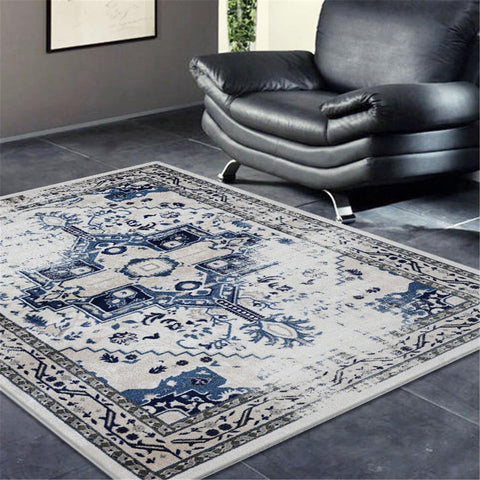 Turkish Sahara Blue Rug - decorstore