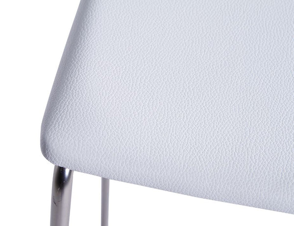 Ardor Stool - Brushed Steel - White Pad - decorstore