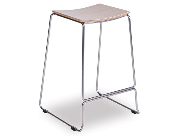Ardor Counter Stool - Brushed Steel - Natural - decorstore