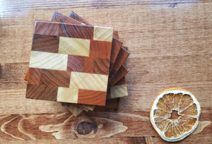 Handmade Coaster - Red Oak, Knotty Alder, Poplar