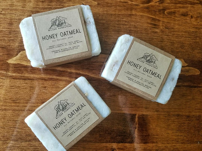 Honey Oatmeal Soap Bars