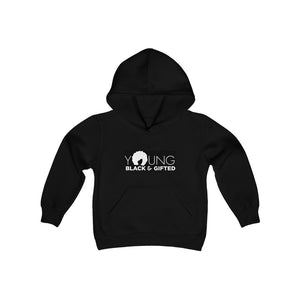 YBG Collection Youth Heavy Blend Black Hooded Sweatshirt
