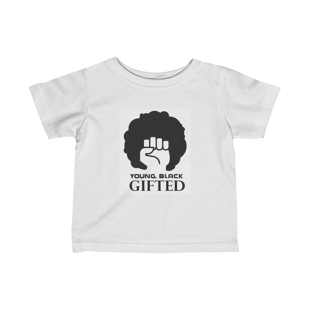 YBG Collection QUEEN Infant Fine Jersey White Tee