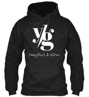LIMITED- UNISEX YBG Hooded Black Sweatshirt